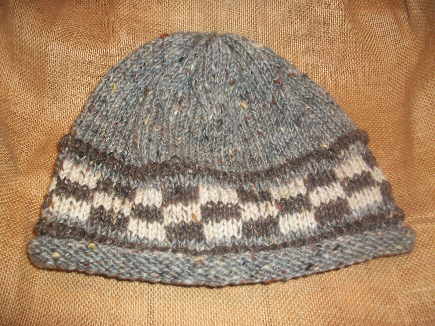hat check greybrown